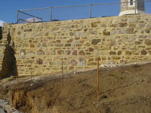 Semaphore Tower Wall After Repair!